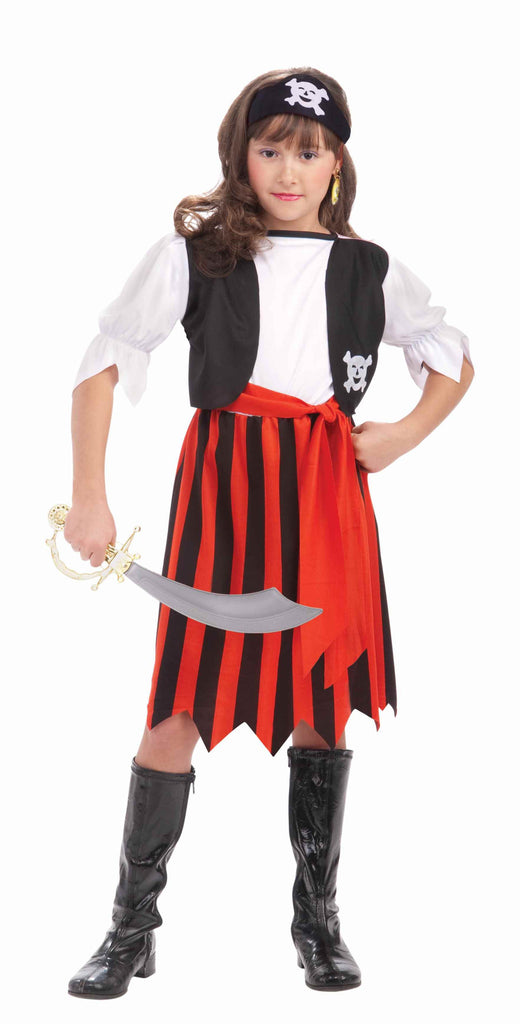 Girls Pirate Lass Costume - HalloweenCostumes4U.com - Kids Costumes