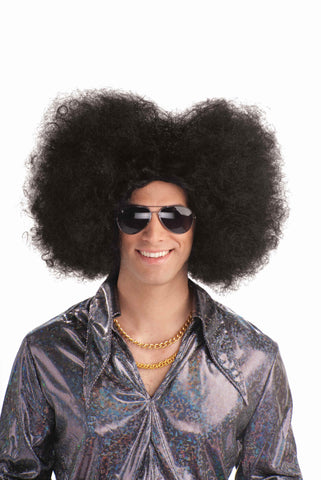 Disco Afro Flat Top Costume Afro Wig - HalloweenCostumes4U.com - Accessories