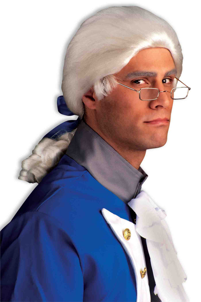 Men's Colonist Wigs White Costume Wig