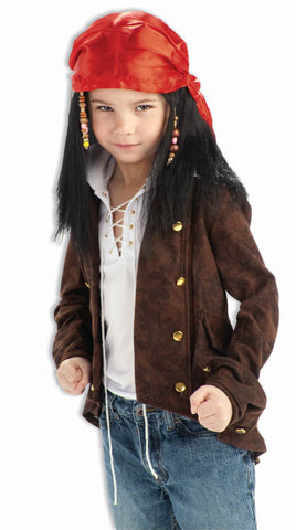 Kids Buccaneer Pirate Wig - HalloweenCostumes4U.com - Accessories