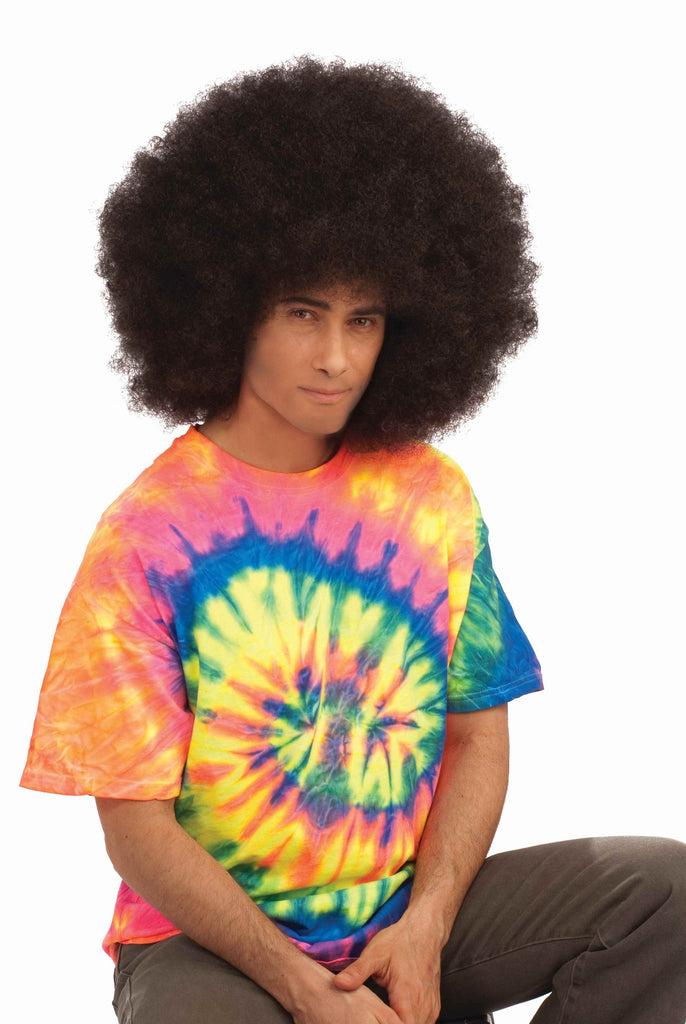 Halloween Afro Wig Mega Afro Brown