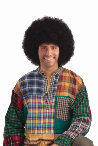 Deluxe Halloween Afro Wig Black - HalloweenCostumes4U.com - Accessories
