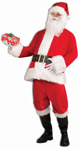 Deluxe Velvet Santa Claus Suit for Men - HalloweenCostumes4U.com - Holidays