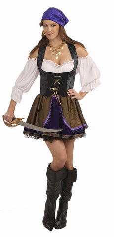 Pirate Corsets Pirate Woman Corset Top Black - HalloweenCostumes4U.com - Adult Costumes