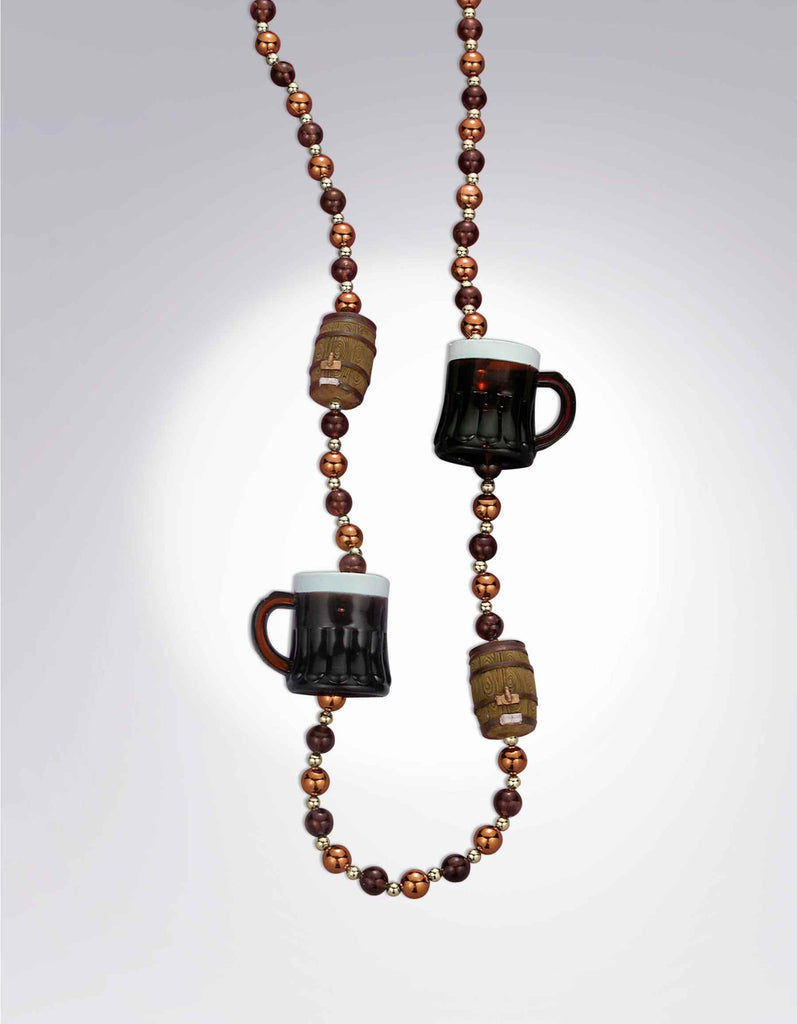 Oktoberfest Beer and Beads Necklace
