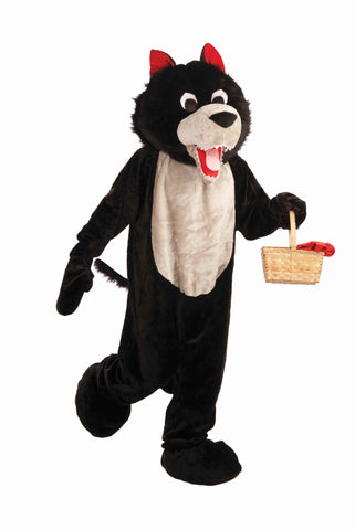 Deluxe Wolf Suit Big Bad Wolf Mascot Costume - HalloweenCostumes4U.com - Adult Costumes