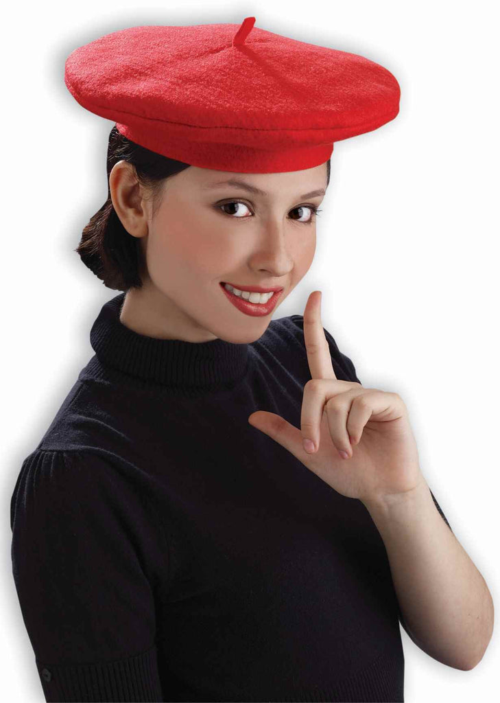 French Beret Hat Red Costume Beret - HalloweenCostumes4U.com - Accessories