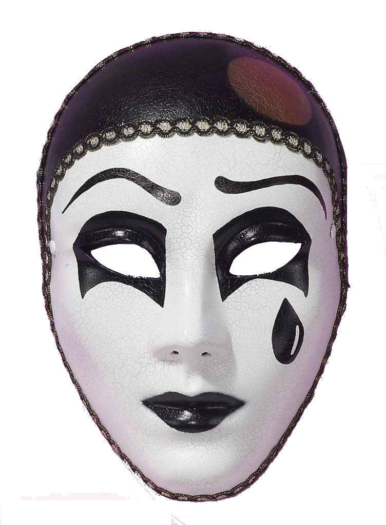 Black & White Pierrot Mask