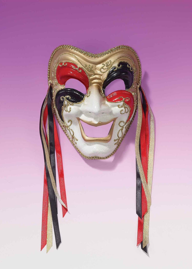 Comedy Masks Three Color with Ribbons - HalloweenCostumes4U.com - Accessories
