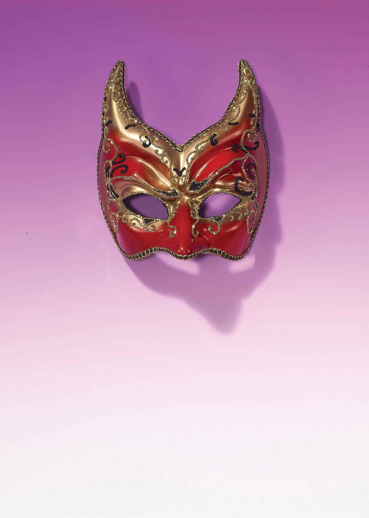 Mardi Gras Devil Eye Mask Gilded - HalloweenCostumes4U.com - Holidays
