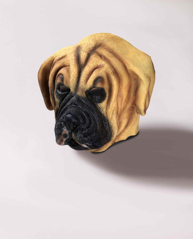 Dog Masks Pug Dog Latex Mask - HalloweenCostumes4U.com - Accessories