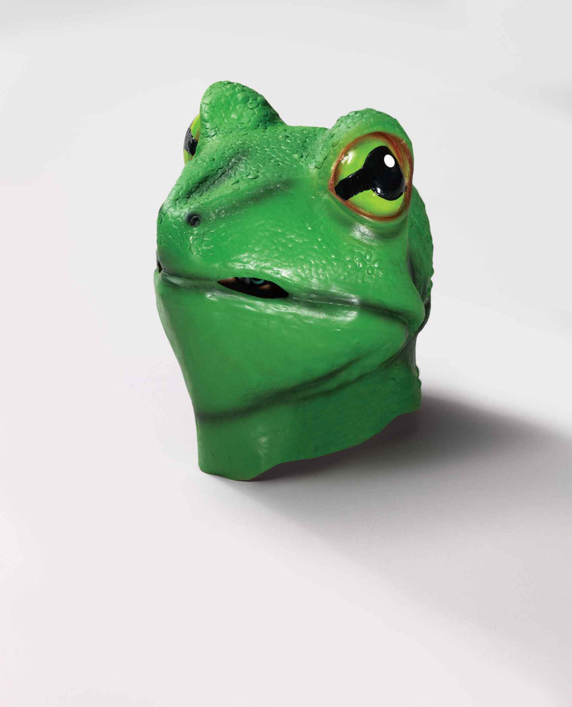 Frog Mask Deluxe Latex Frog Face - HalloweenCostumes4U.com - Accessories