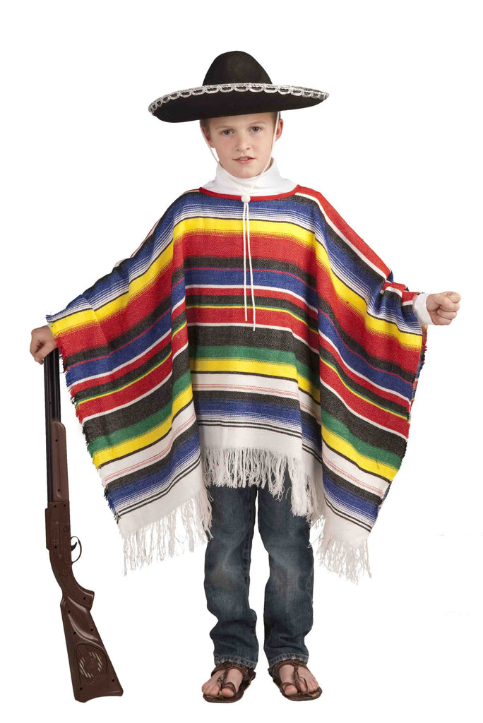 Kids Mexican Poncho Costume