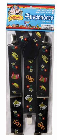 Oktoberfest Costume Suspenders Black - HalloweenCostumes4U.com - Accessories
