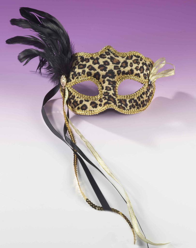 Value Priced Leopard Eyemask with Feathers