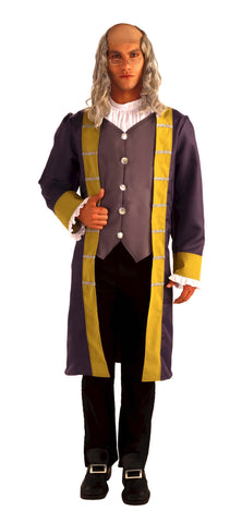 Mens Benjamin Franklin Costume - HalloweenCostumes4U.com - Adult Costumes