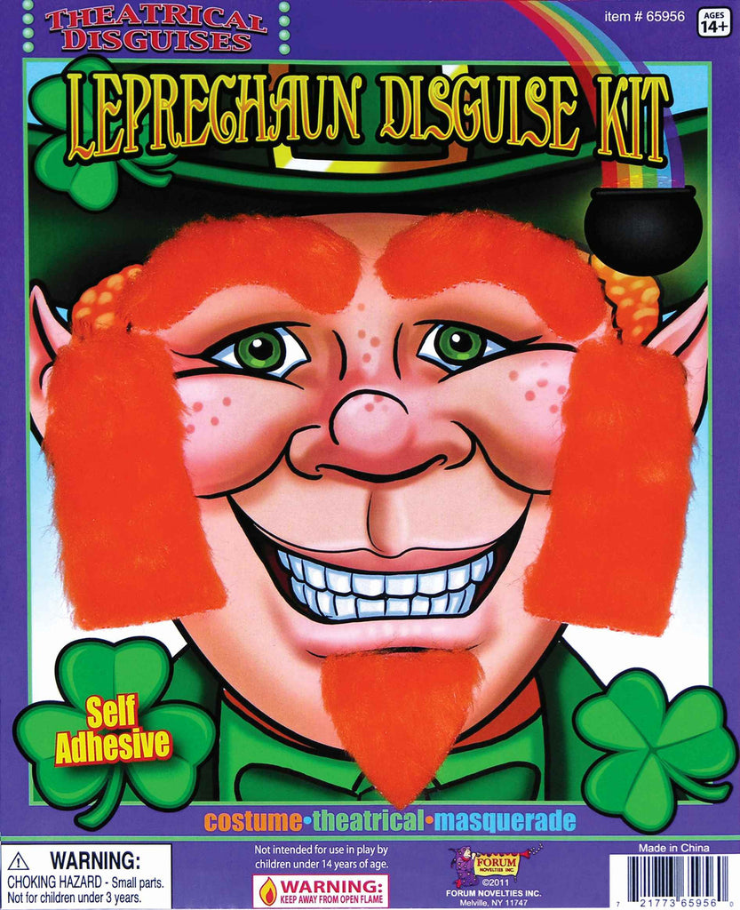 Leprechaun Red Facial Hair Kit - HalloweenCostumes4U.com - Accessories