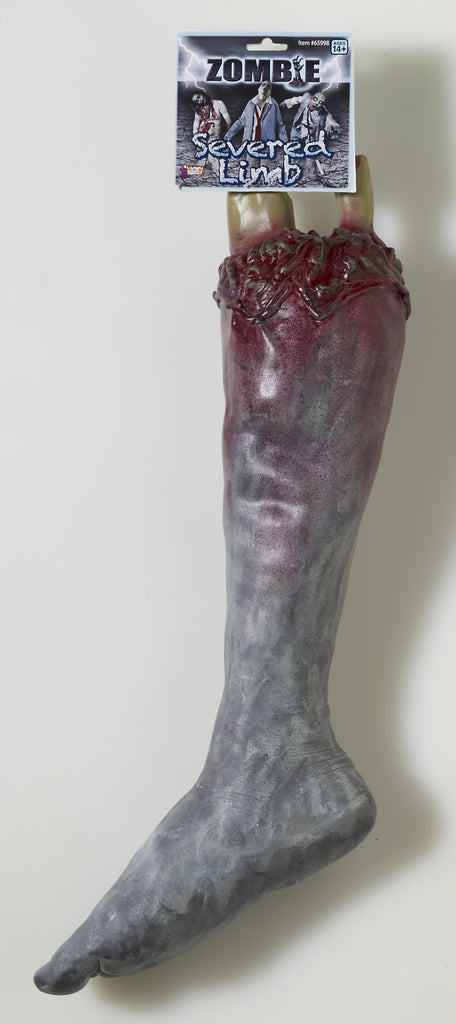 Zombie's Severed Leg Horror Prop