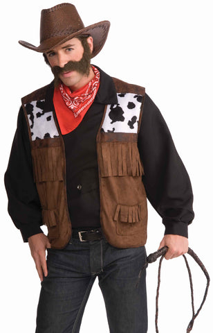 Mens Wild West Cowboy Vest - HalloweenCostumes4U.com - Adult Costumes
