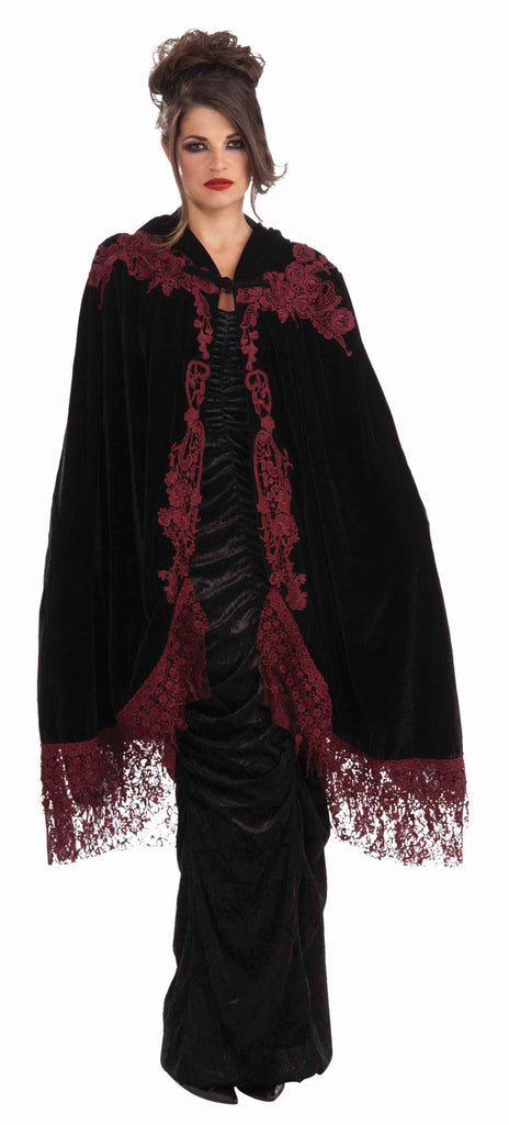 Vampire Woman Cape Velvet and Lace