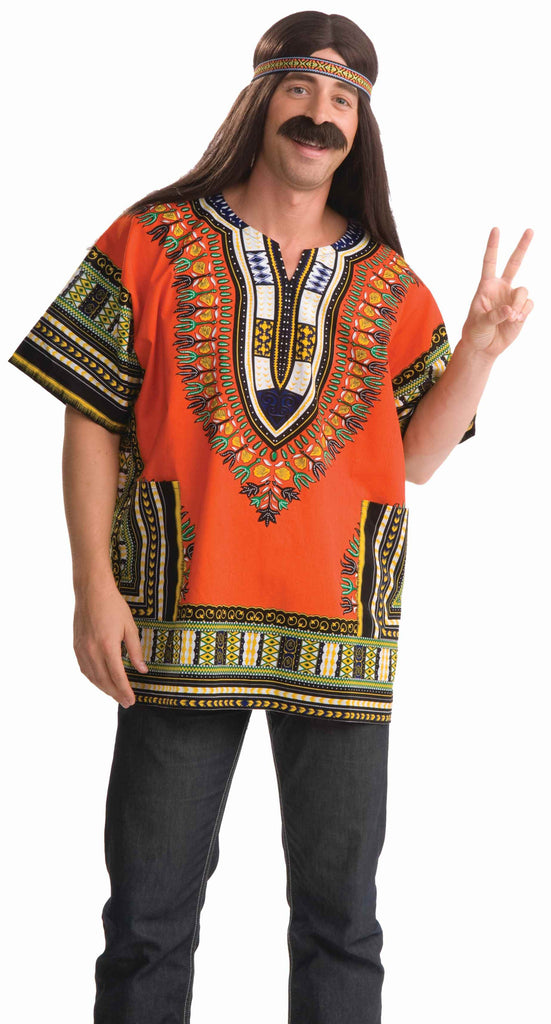 Mens Dashiki Hippie Shirt - Various Colors - HalloweenCostumes4U.com - Adult Costumes - 1