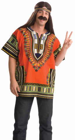 Mens Dashiki Hippie Shirt - Various Colors