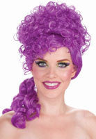 Curly Wig Purple Curls Halloween Wig - HalloweenCostumes4U.com - Accessories