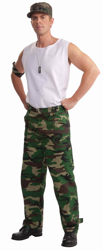 Combat Hero Costume Camo Pants - HalloweenCostumes4U.com - Adult Costumes