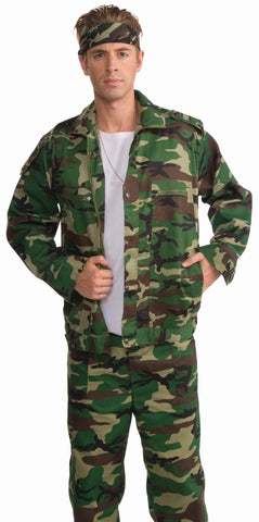 Army Soldier Camouflage Jacket - HalloweenCostumes4U.com - Adult Costumes