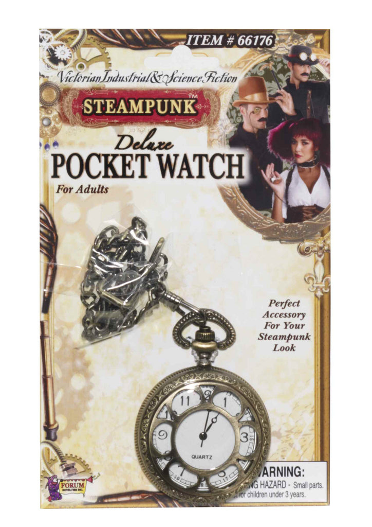 Deluxe Steam Punk Pocket Watch Accessory - HalloweenCostumes4U.com - Accessories