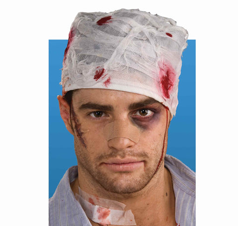 Halloween Costume Bloody Head Bandage - HalloweenCostumes4U.com - Accessories
