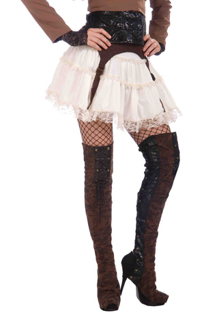 Steampunk Thigh High Boot Tops - HalloweenCostumes4U.com - Accessories