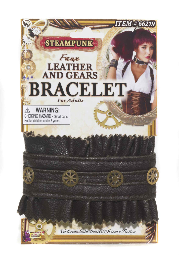 Steampunk Bracelet with Gear Studs - HalloweenCostumes4U.com - Accessories