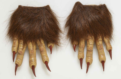 Werewolf Hands Long Claw Furry Hands - HalloweenCostumes4U.com - Accessories