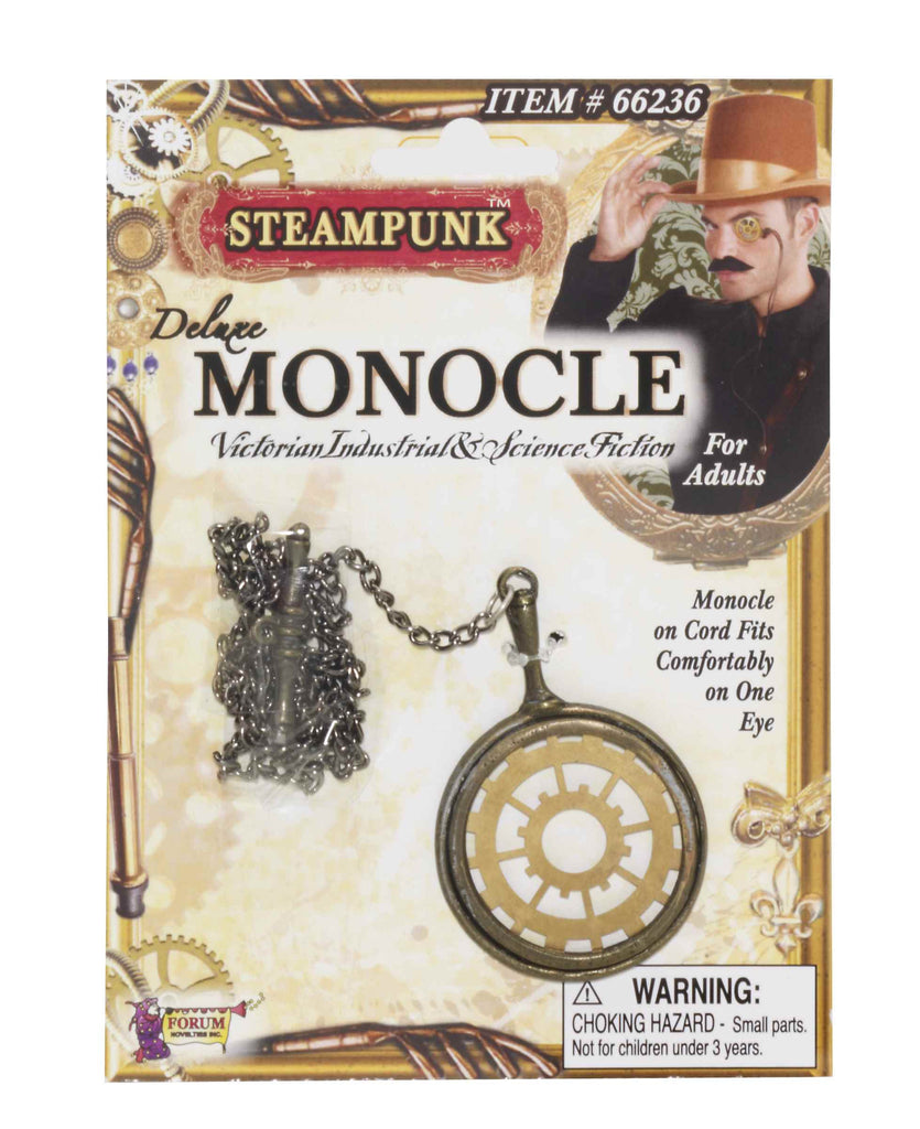 Deluxe Steam Punk Costume Monocle - HalloweenCostumes4U.com - Accessories