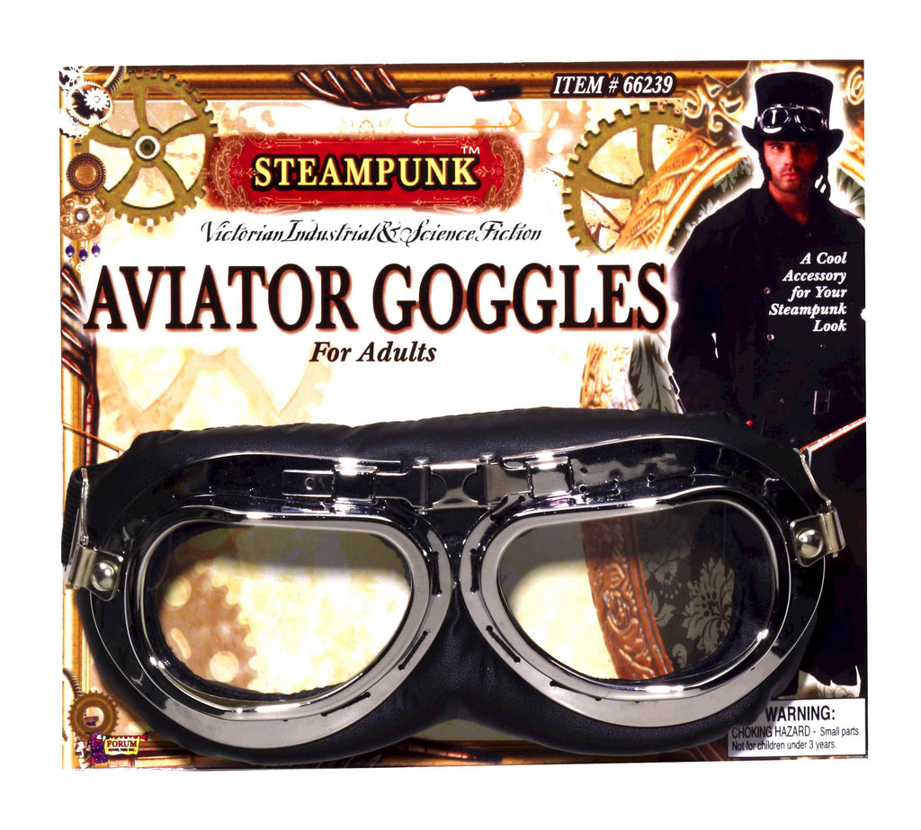 Halloween Steampunk Costume Goggles - HalloweenCostumes4U.com - Accessories