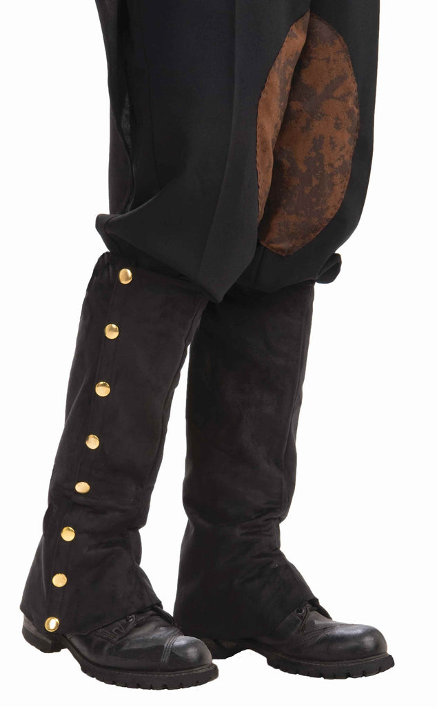 Costume Steampunk Spats Black