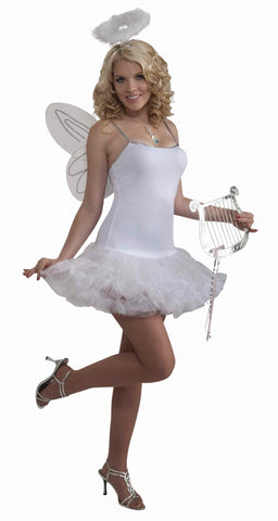 Womens Angel Petticoat Dress - HalloweenCostumes4U.com - Adult Costumes