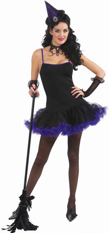 Witch Petticoat Dress - Black/Purple - HalloweenCostumes4U.com - Adult Costumes