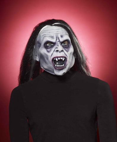 Halloween Vampire Mask with Long Hair - HalloweenCostumes4U.com - Accessories