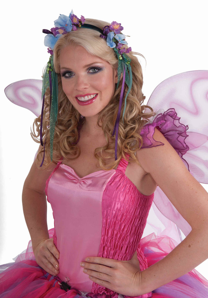 Fantasy Fairies Headband-Blue/Green - HalloweenCostumes4U.com - Accessories