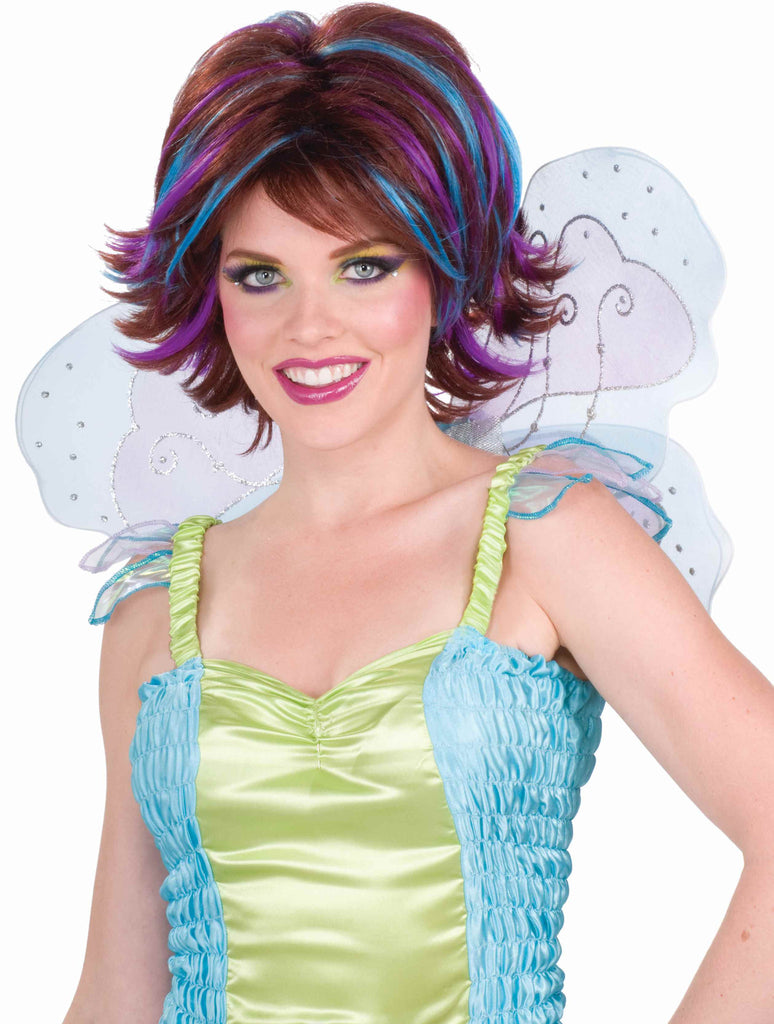 Pixie Costume Wigs Blue//Brown Wig
