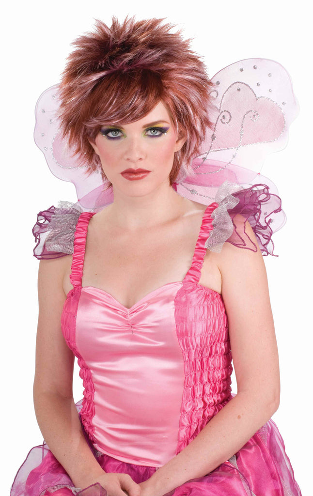 Costume Pixie Wigs Pink/Red Wig