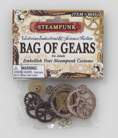 Steampunk Bag of Gears - HalloweenCostumes4U.com - Accessories