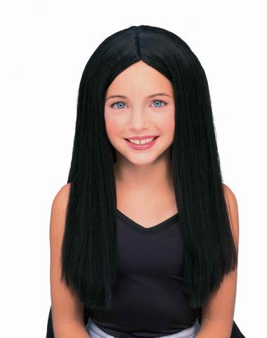 Kid's Witch Wig Long Black Halloween Wig - HalloweenCostumes4U.com - Accessories