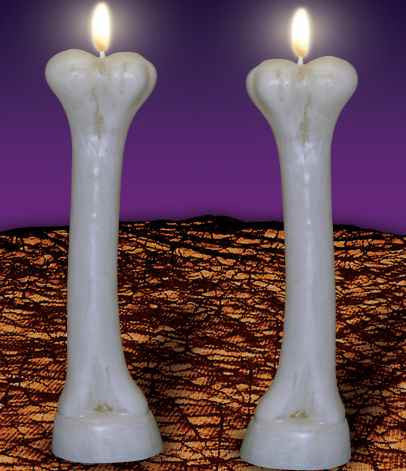 Graveyard Bone Candles - HalloweenCostumes4U.com - Decorations