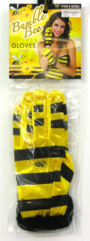 Honey Bee Gloves-Short - HalloweenCostumes4U.com - Accessories