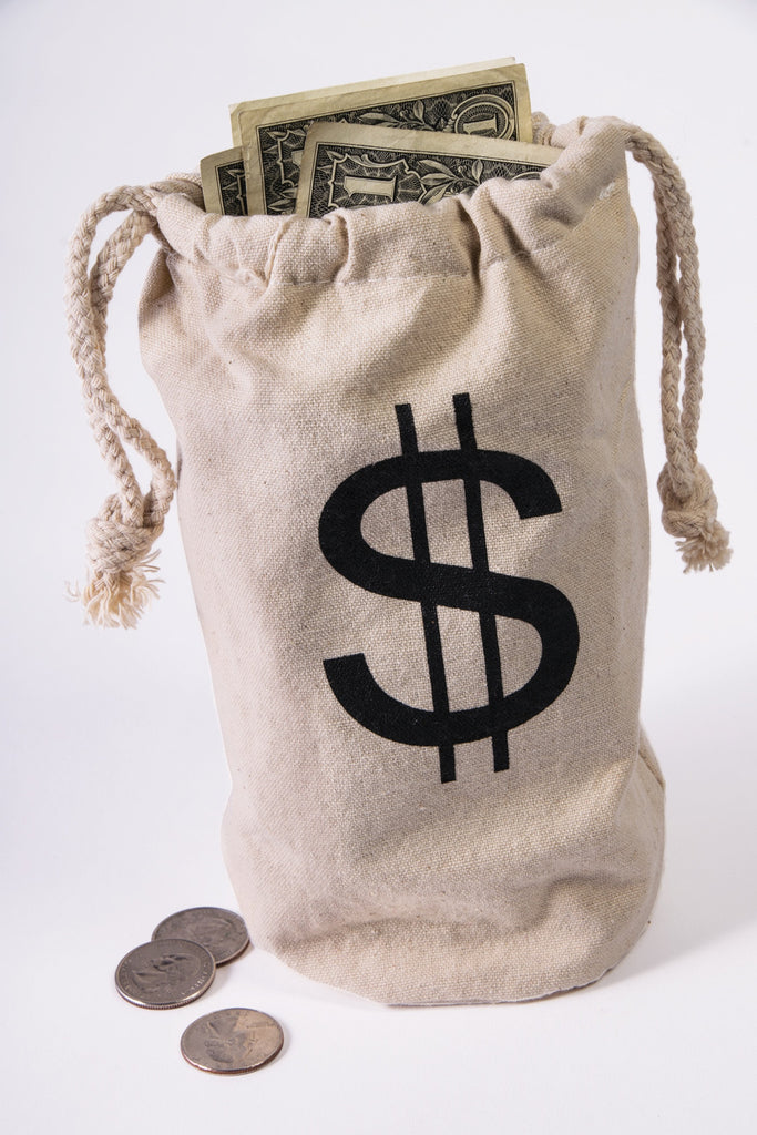 Wild West Outlaw Money Bag - HalloweenCostumes4U.com - Accessories