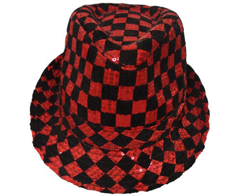 Checkerboard Fedora Hat - Various Colors - HalloweenCostumes4U.com - Accessories - 1
