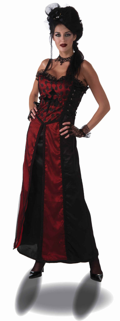 Goth Vampire Woman Costume Dress - HalloweenCostumes4U.com - Adult Costumes